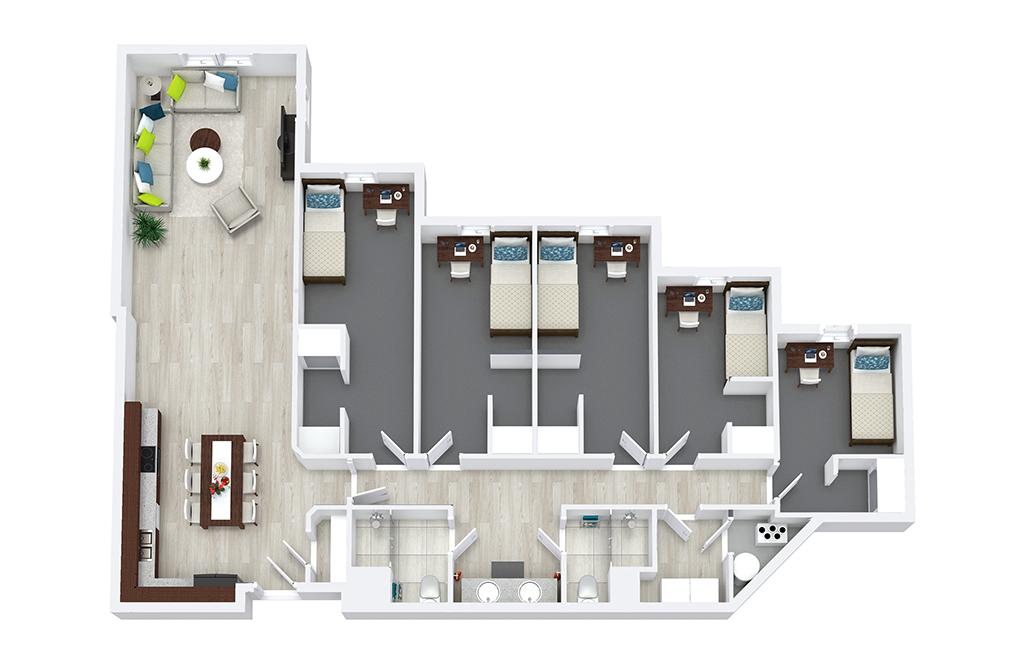 52 bedroom